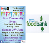 Would you like to donate prizes to help Epsom Foodbank? @EpsomFoodbank