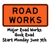 Major Road Works on Hook Road (between Pound Rd and Miles Rd) Monday 9th June @epsomewellbc #epsomtraffic