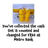 FREE coin counting and changing at Metro Bank Epsom with the Magic Money Machine @Metro_Bank