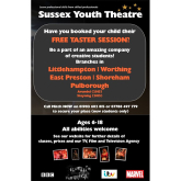 Sussex Youth Theatre FREE Taster Session
