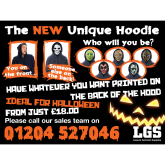 Halloween hoodies from Leisure Garment Supplies