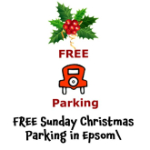 FREE Sunday Parking for Christmas in Epsom