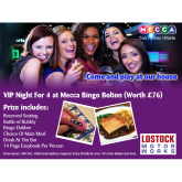 Win a VIP night at Mecca Bingo!