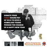 Give a homeless young person a Happy New Year!