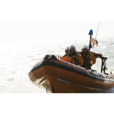 Stranded motor boat assisted by Littlehampton RNLI