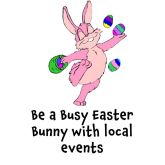 The Easter Holiday in #Epsom lots of things going on – Be  Busy Easter Bunny #Easter