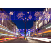 Christmas Lights on the High Street in Richmond for the first time this year!!!