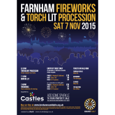 Bonfire Night and Fireworks Display 2015 in Farnham