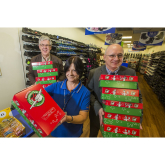 "Shoppers urged to ""wrap up their love"" for Christmas shoebox appeal at Streford Mall"