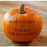 How to carve a Halloween pumpkin!