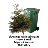 Christmas Waste & Tree Collections @epsomewellbc @reigatebanstead @MoleValleyDC