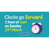 When do the clocks go forward in 2018?