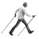 Nordic walking, fun to do, keeps you fit and tones your bum!