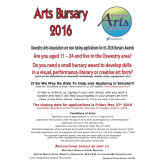 Oswestry Arts Bursaries for 11-24 Year Olds.