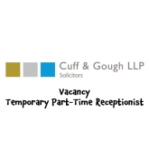 Cuff and Gough Vacancy for temporary p/time receptionist in #Banstead @CuffandGoughLLP
