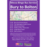 Take advantage of the Mecca Bingo bus service!