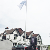 Telford hotel flies wedding season flag