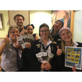 SPECSAVERS STAFF WEAR SILLY HATS FOR HEADWAY