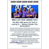 DIY SOS are coming to Welwyn Garden City