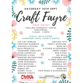 Over 30 stalls to browse at a Charity Craft Fayre