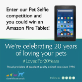 Win an Amazon Fire Tablet with Clent Hills Vets