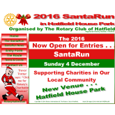 Santa Fun Run at Hatfield House: Sunday 4th December