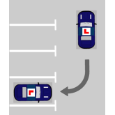 Reversing into a parking bay