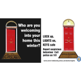 "Burglary Campaign launched by West Midlands Police ""Who are you welcoming into your home?"""