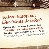 Countdown to Telford European Christmas Market