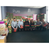 Pure's Norwich team collects over 350 shoeboxes for Operation Christmas Child charity campaign