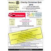 Hitchin Rotary Christmas Quiz