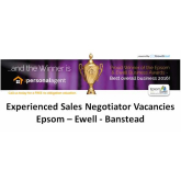 Experienced Sales Negotiator vacancies at The Personal Agent #Epsom #Ewell #Banstead @PersonalAgentUK
