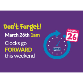 The Clocks are Going Forward!