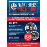 Have you seen the Bolton Wanderers Pitch Hire Packages?