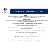 Bolton Whites Hotel are Recruiting a new Sales Office Manager!