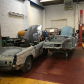 About the MGB Roadster . . . and the two we are restoring!