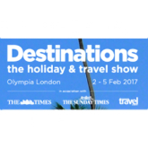 Complimentary tickets to the Destinations Travel Show at London Olympia 2-5 February 2017, courtesy of 2by2 Holidays