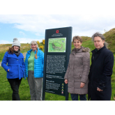 Volunteers team up with English Heritage on new Old Oswestry Hillfort sign