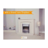 WIN a Solid 48'' Marble Fireplace PLUS a choice of gas or electric fire (worth £1,300) from Aldridge Fireplaces Walsall