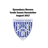 Eynesbury Rovers News - Youth Team Update Aug 2017
