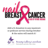 The Beauty Gallery, Lavenham Supports Nail Breast Cancer This October