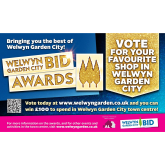 Voting now open for the Welwyn Garden City BID Awards 2017