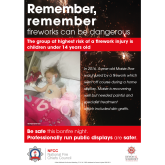 Remember, remember… organised displays are the safest place to enjoy a firework display