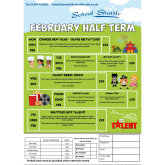 February 2018 Half Term at School Shuttle