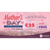 Enjoy a delicious 3 course carvery at Bolton Whites Hotel this Mother's Day