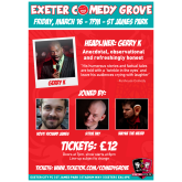 Exeter Comedy Grove at SJP on Friday