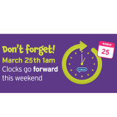 The days are getting lighter in Farnham, so when do the clocks change?
