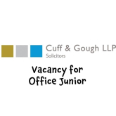 Are you searching for a new job? @CuffandGoughLLP are searching for an office junior