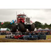 Monster trucks at monster show