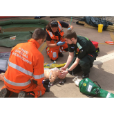 Working with critical care paramedic students